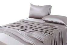 4. ZIMASILK 4 Pcs 100% Mulberry Silk Bed Sheet Set,All Side 19 Momme Silk (Queen, Silver Grey)