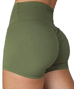 KIWI RATA Women's High Waisted Yoga Shorts