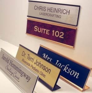 Lasercrafting - Office Name Plate