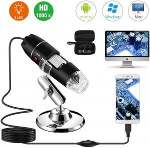 Bysameyee USB Digital Pocket Microscope