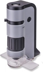 Carson MicroFlip 100x-250x LED and UV Lighted Pocket Microscope