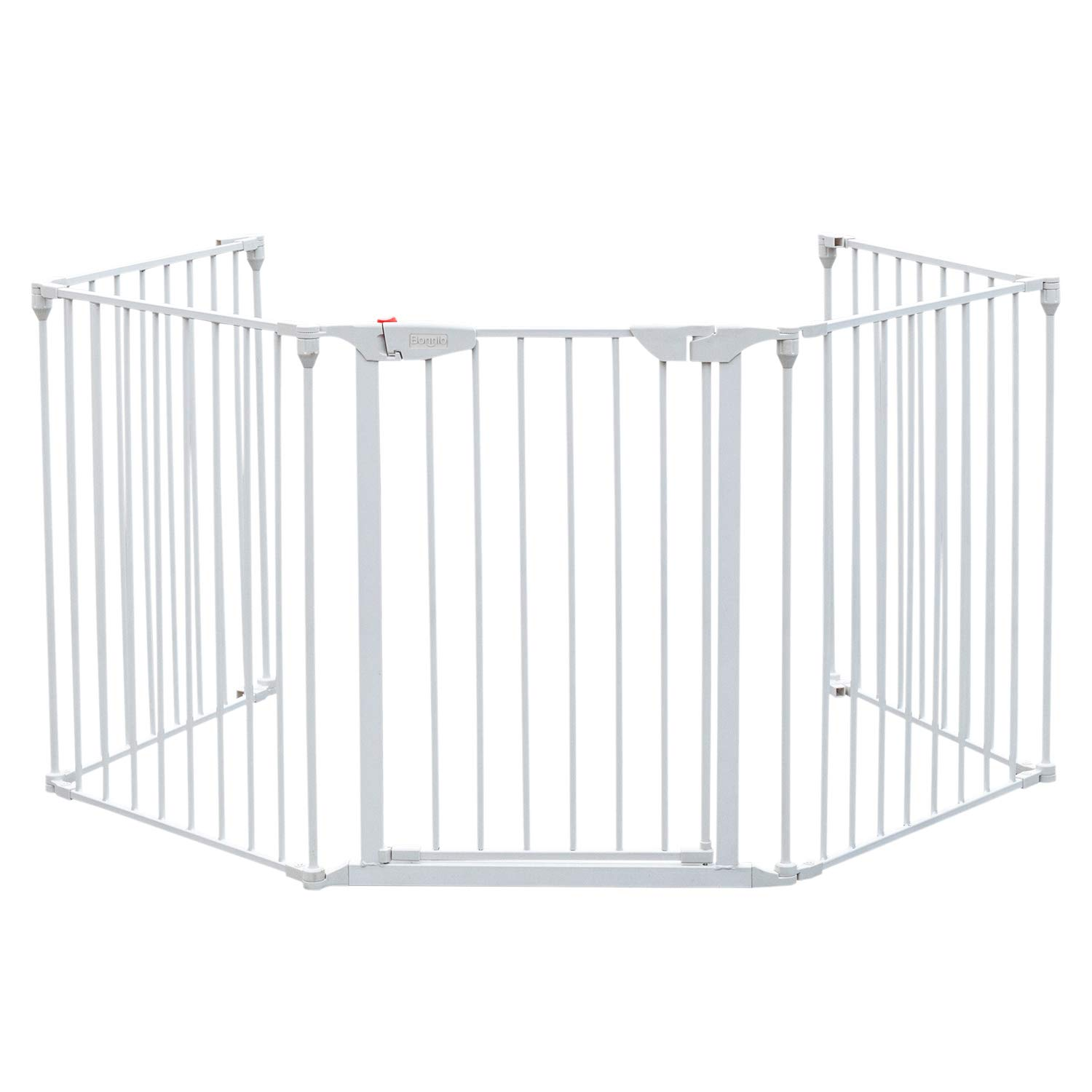 Bonnlo 121-Inch Wide Metal Baby Safety Fence/Play Yard