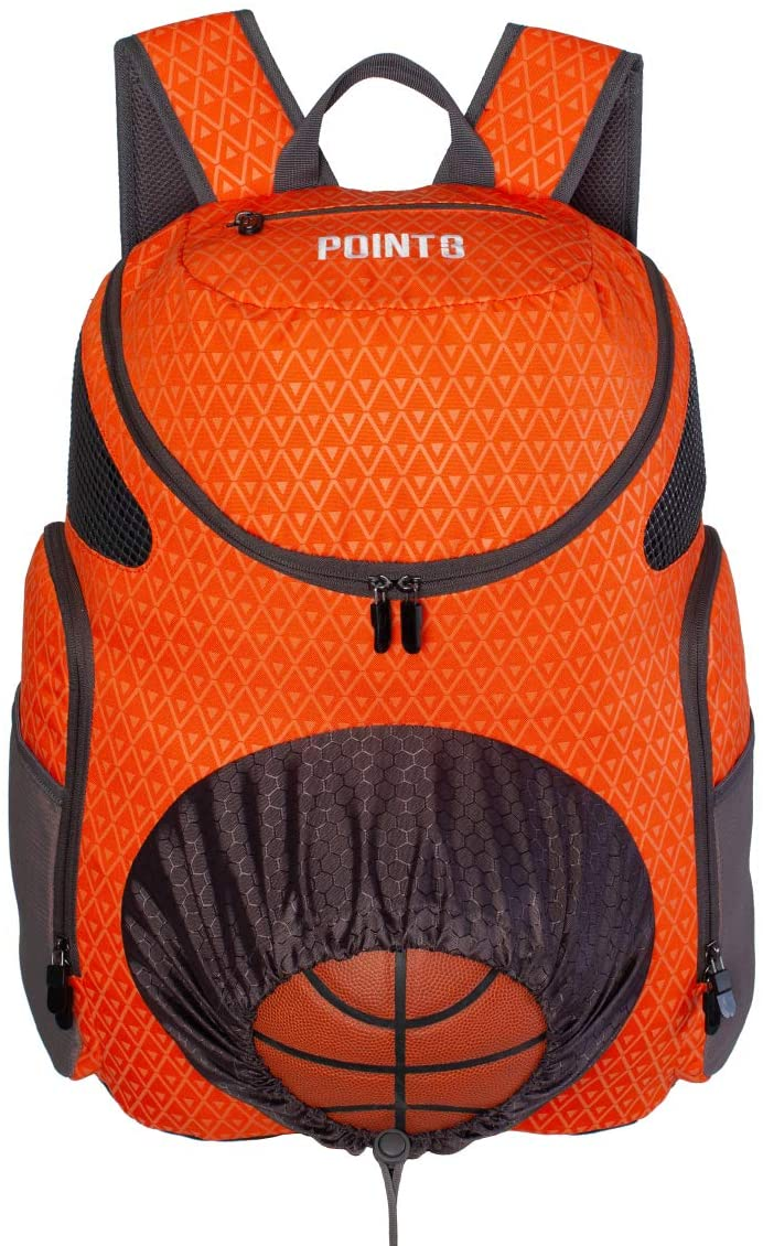 POINT 3 Basketball Backpack with Ball & Shoe Storage