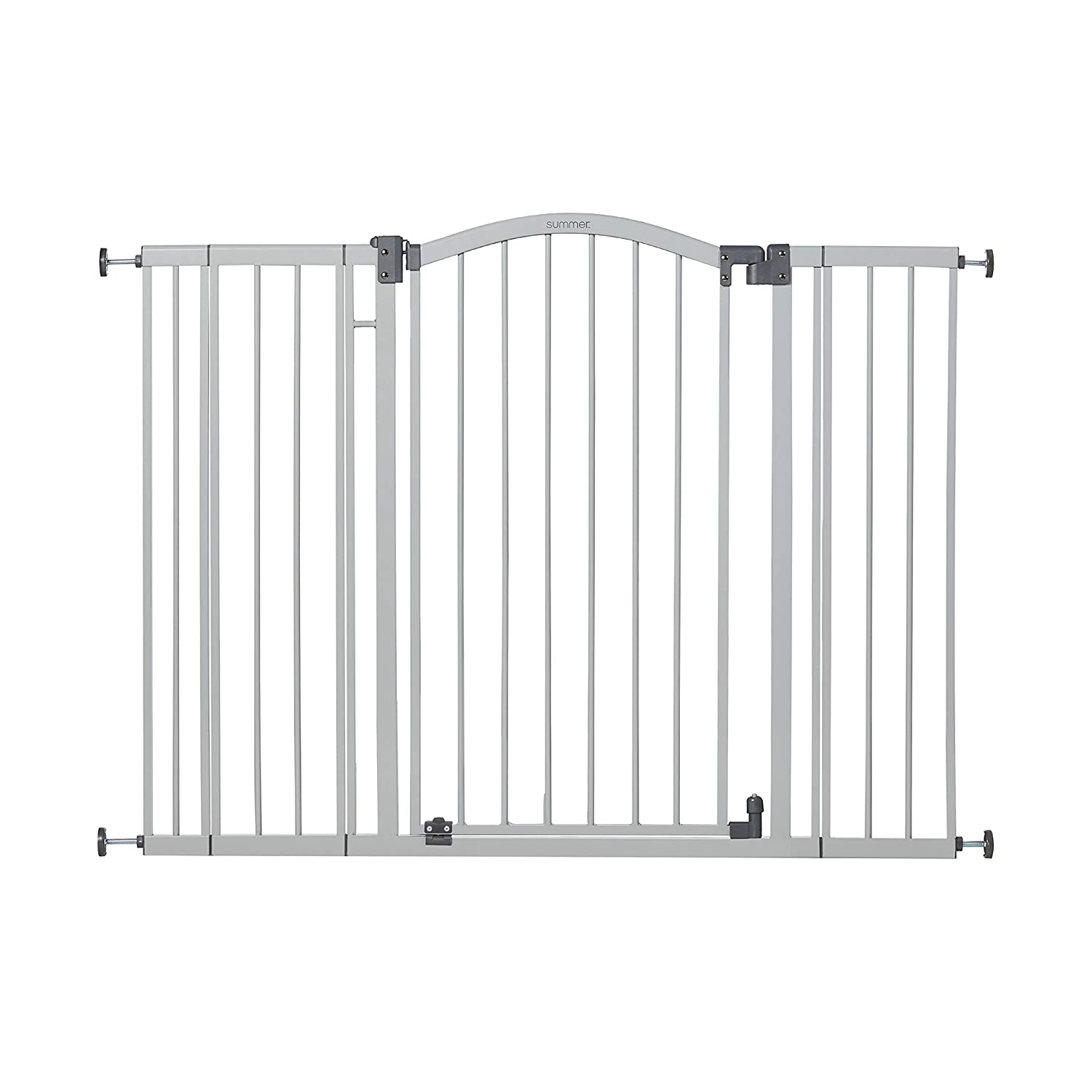 Summer Extra Tall & Wide Safety Baby Gate Cool Gray Metal Frame
