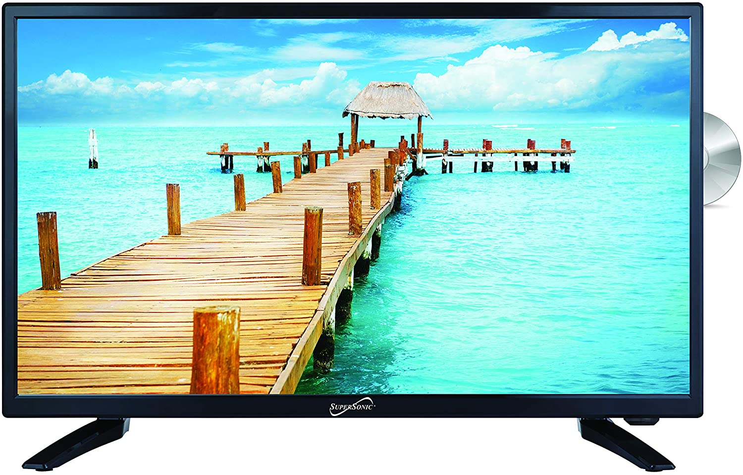 SuperSonic SC-2412 LED Widescreen HDTV & Monitor 24